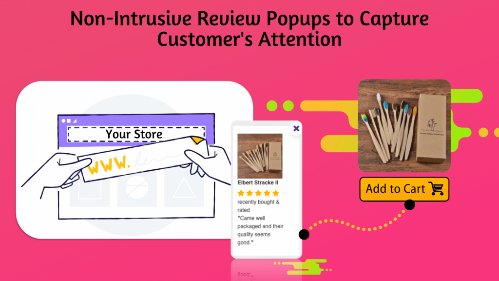 Review popup for shopify