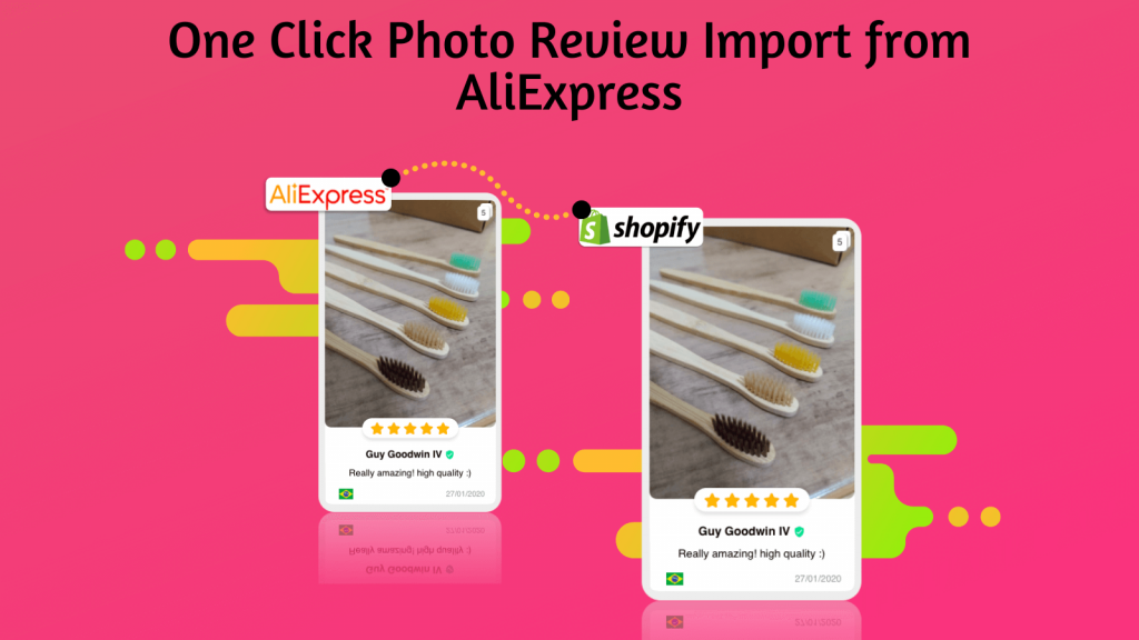 One click review import from aliexpress