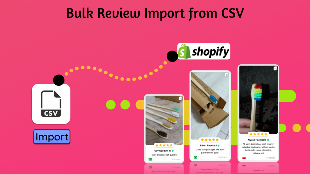 bulk review import from csv