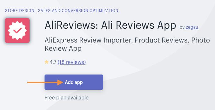 AliReviews for Shopify reviews app