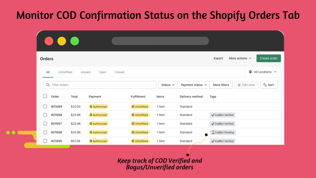cod verification
